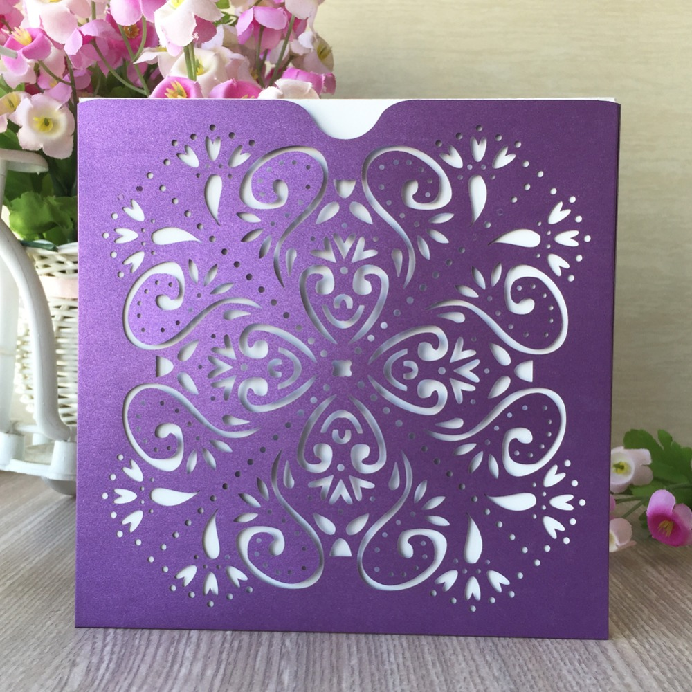 20pcslot exquisite small flora pattern invitation card