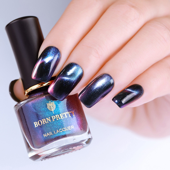 BORN PRETTY Chameleon 3D Cat Eye Nail Polish Magnetic Aurora Series 6ml Varnish Magnet Nail Art Lacquer Black Base Needed