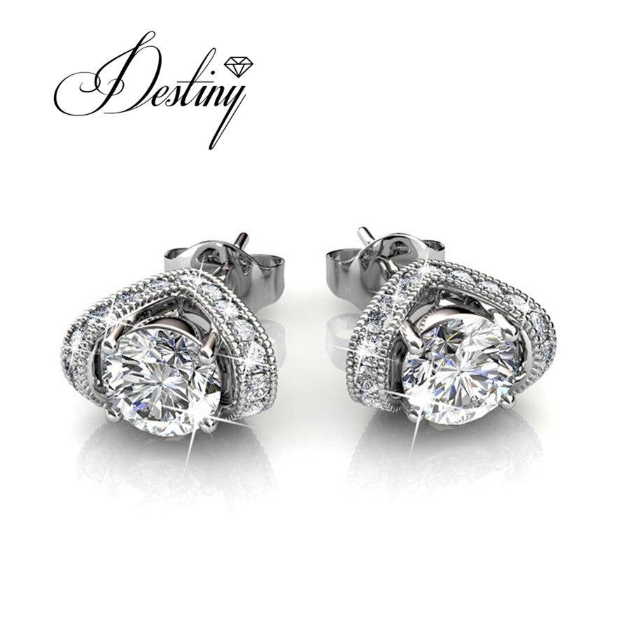 Destino Jóias Embelezado com cristais de Swarovski brincos Brincos boucle d'oreille DE0157 Véspera