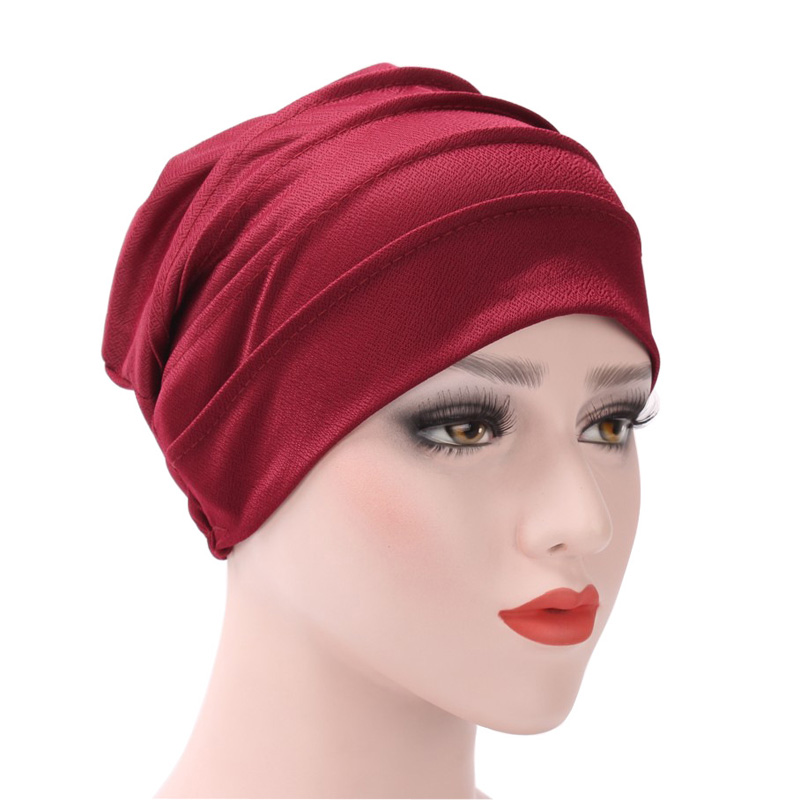 Women India Cotton Hat Muslim Ruffle Cancer Chemo Hat   Beanie   Scarf Turban Head Wrap Winter Female Cap Casual   Skullies     Beanies