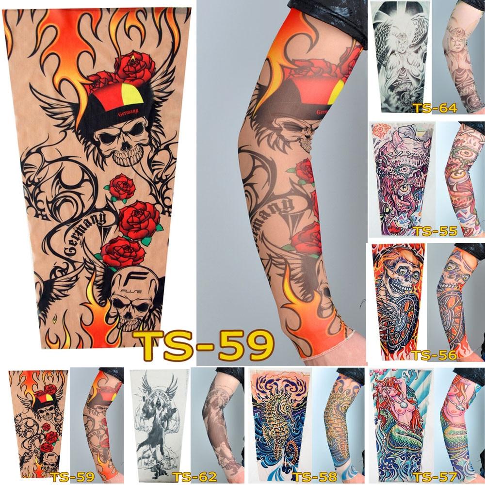 3-4 Unisex Fashion Nylon Temporary Tattoo Sleeve Arm Stockings New Quality Sunscreen P# dropship 1101
