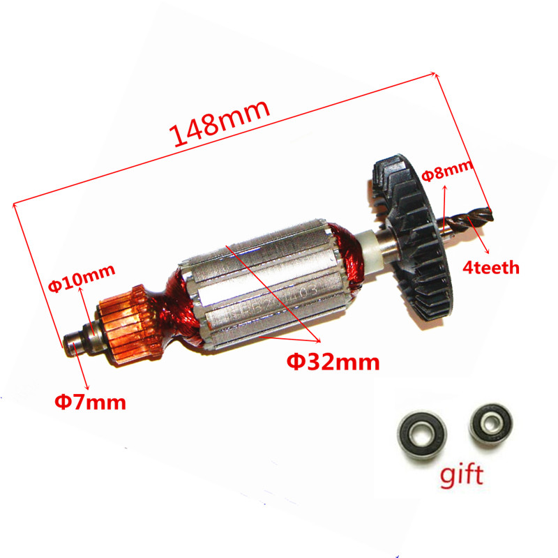 AC220-240V Rotor Engine Anchor Armature Replacem for MAKITA 4305T 4305 4304T 4304 517098-5 517099-3 JIG SAW Rotor Armature 4304