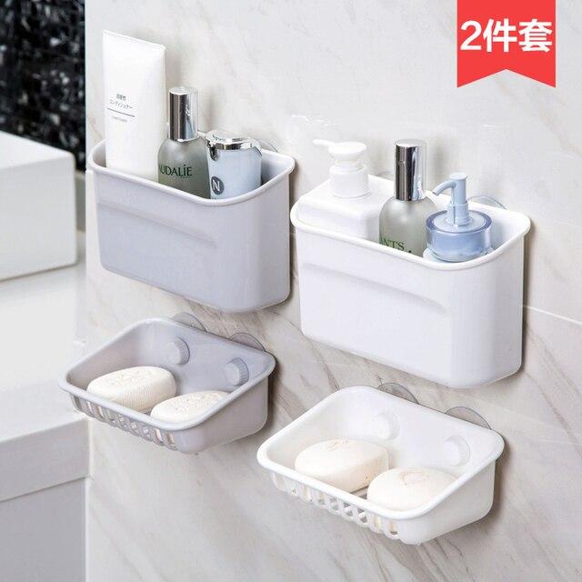 Home Er Rinse Rack Soap Bathroom No Holes Wall Hanger Toilet Storage