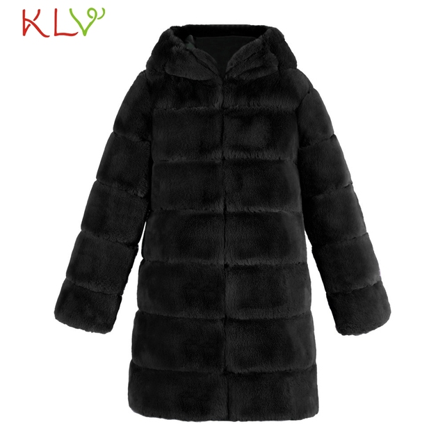 Women Jacket Winter 2018 Faux Fur Hooded Luxury Long Plus Size Ladies Chamarra Cazadora Mujer Coat For Girls 18Oct29 4