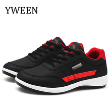 YWEEN Autumn New Mens Shoes Lace-Up Male Fashion Man Microfiber Leather Casual Brand Men Sneakers FLats