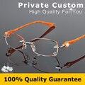 Diamond Eyeglasses Rimless Women Myopic Glasses Lady Optical Prescription Eye Glasses with Box Reading Rhinestone Decoration 616