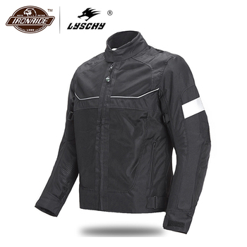 LYSCHY Men Motorcycle Jacket Summer Moto Riding Jacket Breathable Motorcycle Full Body Protection Moto Cross Motorbiker Clothing duhan summer motorcycle jacket men breathable mesh riding moto jacket motorcycle body armor protector moto cross clothing