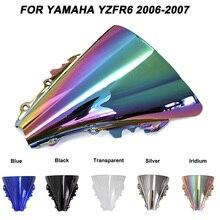 цена на Motorcycle Motorbike Windshield Double Bubble Windscreen Wind Deflectors For Yamaha YZFR6 YZF R6 yzf r6 2006-2007 2006 2007