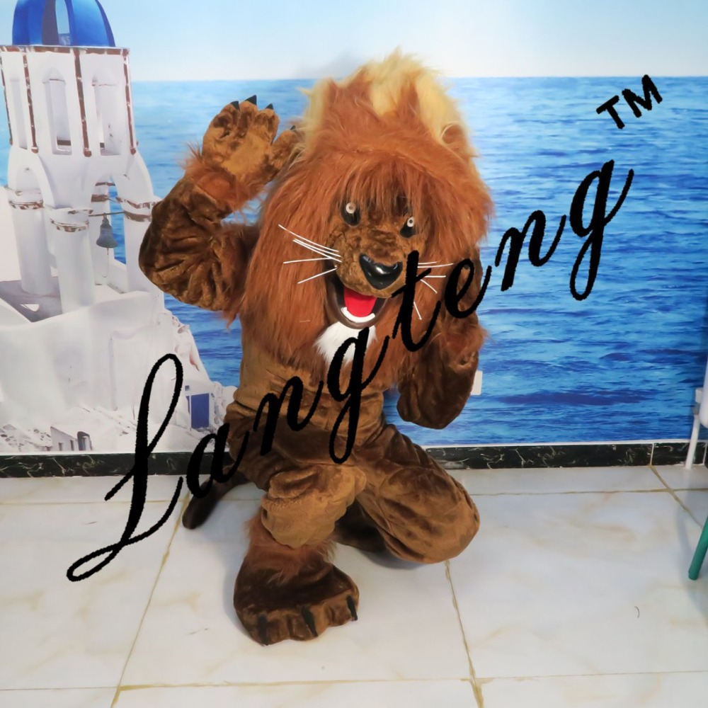 Lion king mascot costumes for adults circus christmas Halloween Outfit Fancy Dress Suit Free Shipping real picture2019New in Mascot from Novelty Special Use