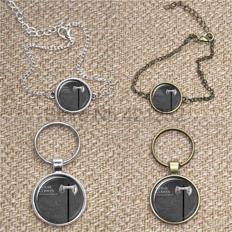 House Crewyn Game of thrones Barratheon Sigil Glass Cabochon Necklace keyring bookmark cufflink earring
