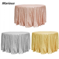 round tablecloth glitter sequin table cloth for wedding decoration 5pcs/lot Free Shipping