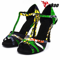 10cm High Heel 4 Inch Girls Latin Salsa Dance Shoes EvkooDance Soft Leather Sole Women Latin