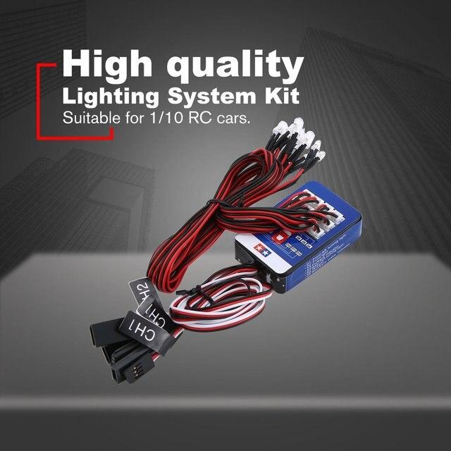 12 LED Lighting Kit Steering Brake Simulation Flash Light for 1/10 RC Car For Yokomo For Tamiya Exquisitely Designed Hot!