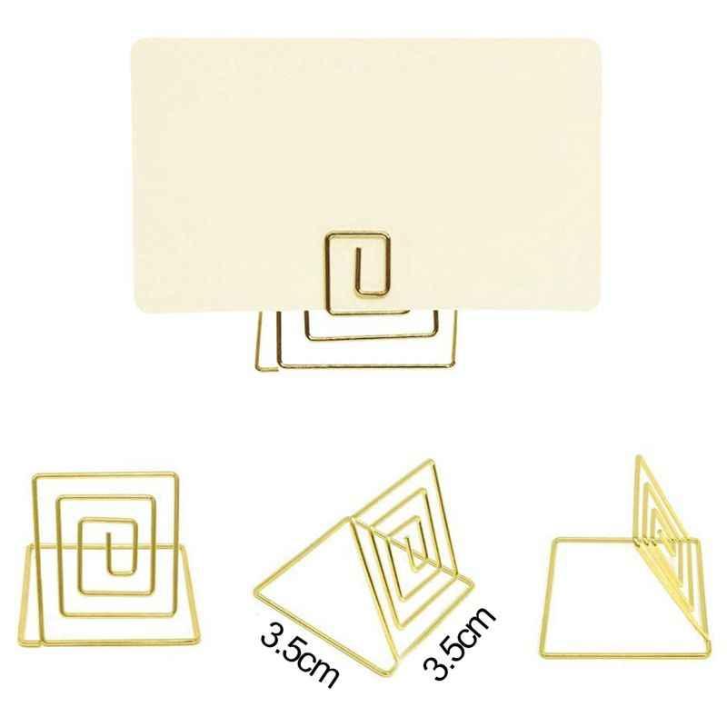 سلك شكل مكان حامل بطاقة تقف ، الجدول اسم عدد حاملي ، ورقة القائمة الصورة علامة تعريفية الصورة حامل قصاصة الغذاء علامات ل
