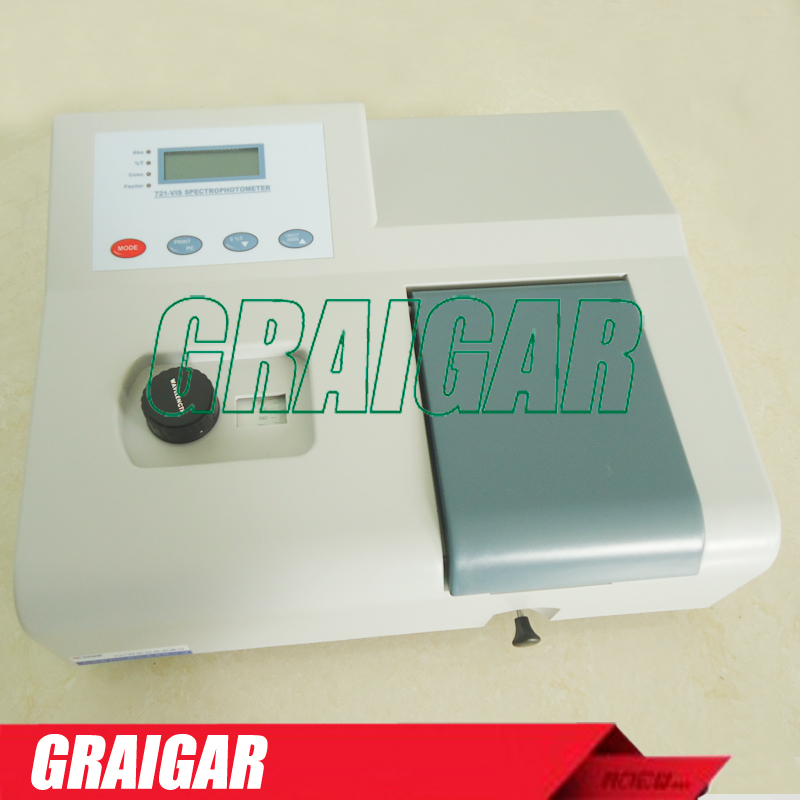 Wavelength range 350 1020nm Spectral Bandwidth 6nm Visible Spectrophotometer 721 Free shipping