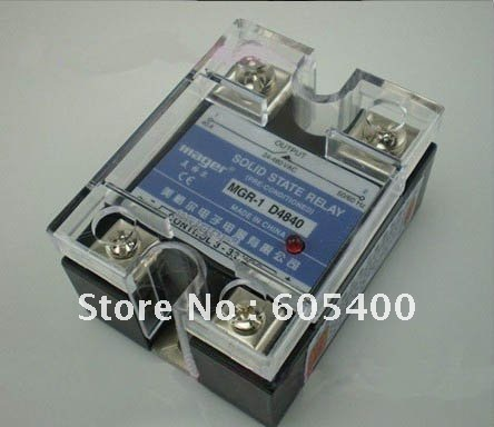 High Quality Mager Brand,China's Toppest Quality solid state relay 40A ssr,input 3-32VDC output 24-480VAC ,free shipping solid state relay g3nb 240 5 b 1 24 vdc