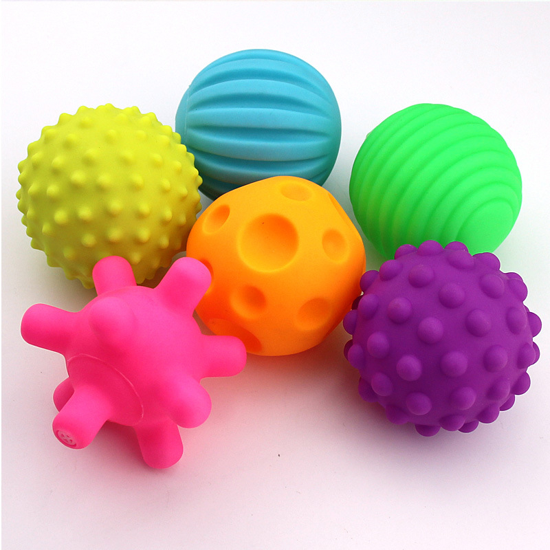 6 Piece//Set Soft Develop Baby/'s Tactile Senses Toy Baby Hand Ball Toy