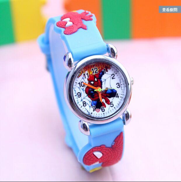 2018 Hot Sale Spiderman Watches Children Cartoon Watch Kids Cool 3D Rubber Strap Quartz Watch Clock Hours Gift Relojes Relogio