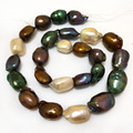 16 inches 18-22mm Multicolor Natural Baroque Pearl Loose Strand