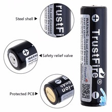 TrustFire 18650 Protected Rechargeable Batteries 3.7V 2600mAh Lithium Li-ion Battery For Led Flashlight with PCB брагинец н ред забавные зверята раскраска