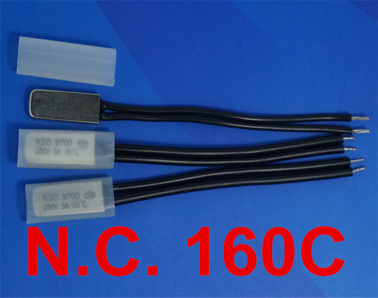 100 pcs/lot) 160C KSD9700 Normally Close Thermostat, Temperature Switch, NC 160 Celsius, Bimetal Disc.-in Switches from Lights & Lighting    1