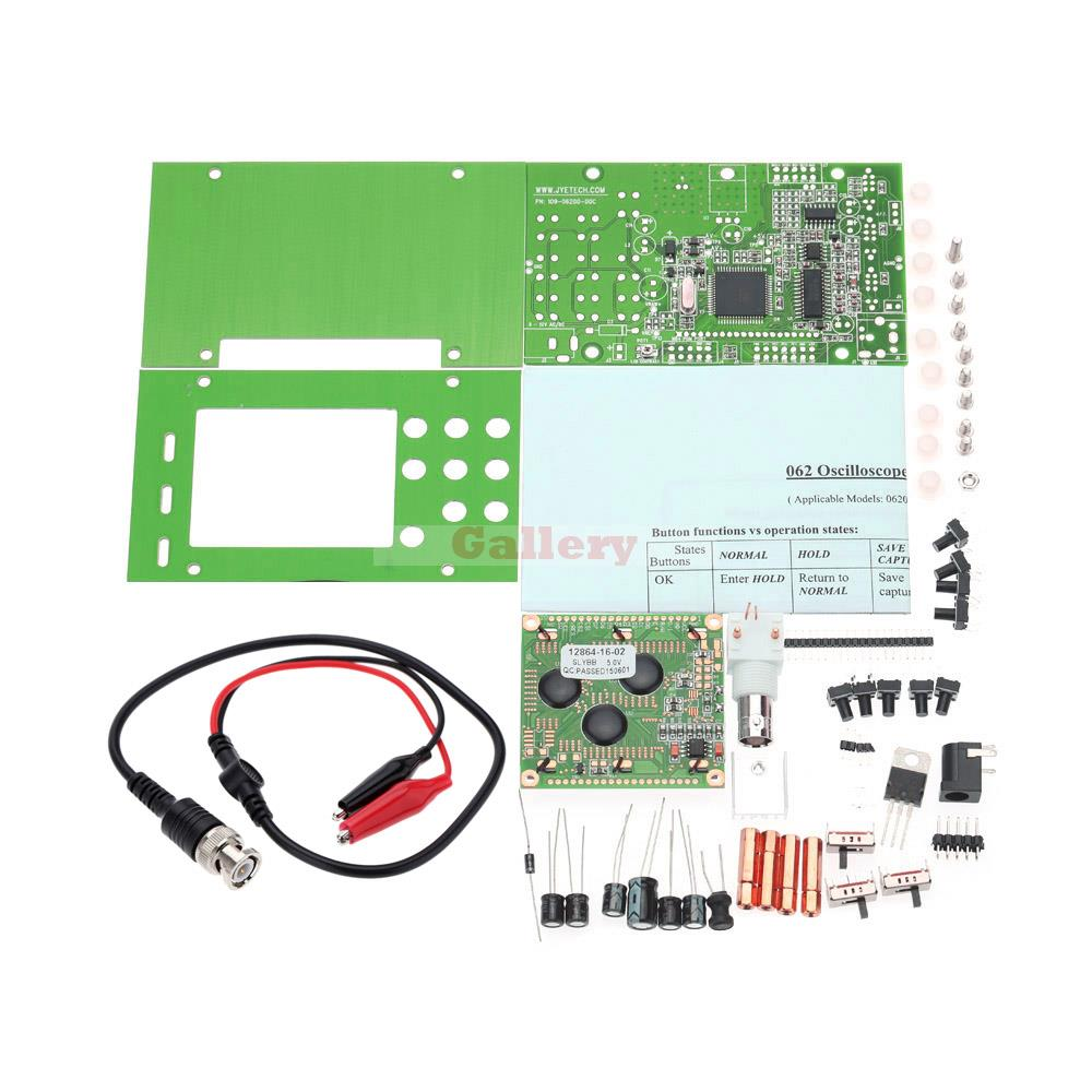 Dso062 Mini Lcd Dso 1m Banwidth 2msps Real-time Sampling Rate Digital Oscilloscope Diy Kit Electronic Components for Students цена и фото