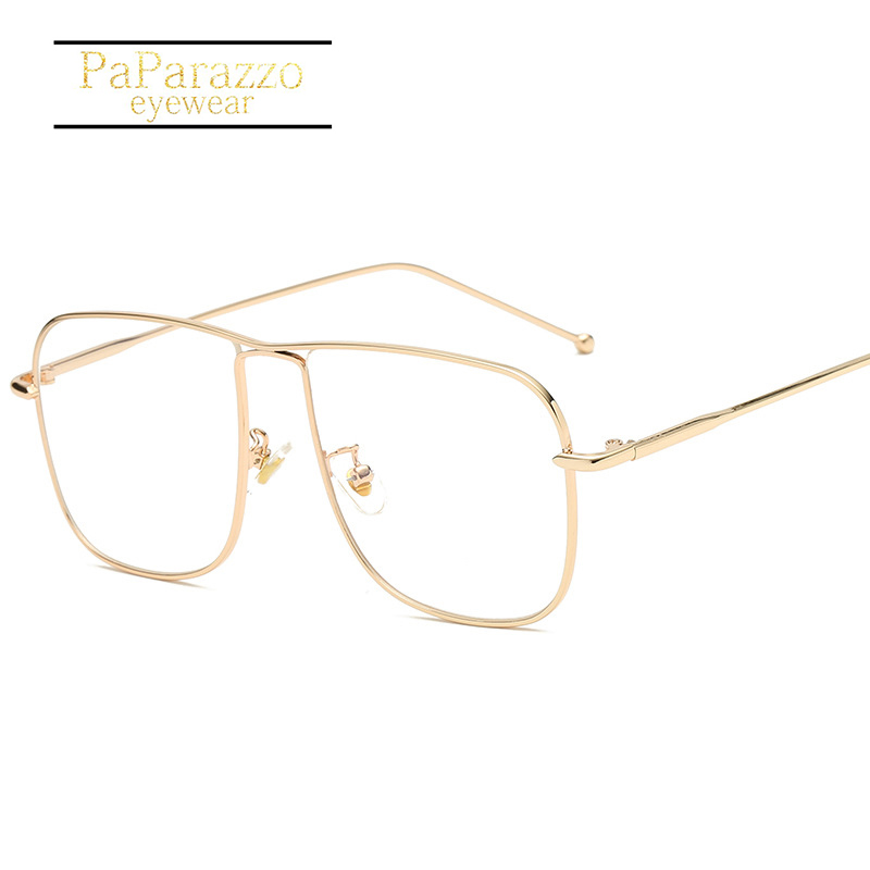 Ran ben Style Myopia Glasses Frame Women Men Eyeglasses Vintage Oversized Square Unisex Fashion Designer Grade
