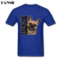 XS 3XL French Bulldog Dog Tailored T Shirt Men Custom Cotton Short Sleeve Men Tshirt Family