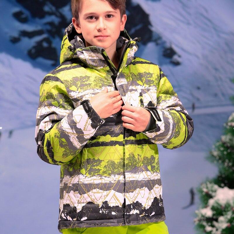 Prix pour 2016 Hifh Qualité Marque Sport Neige Veste À Capuche Garçons Étanche Dropshipping Neige-vêtements Manteau D'hiver Vestes de Ski Snowboard