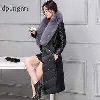 2018 New Brand woman winter coat large raccoon fur collar hooded parkas outwear detachable rabbit fur winter jacket