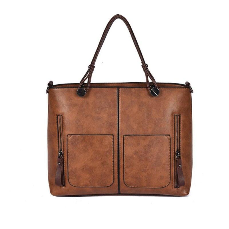 b0b3ad014d06 Винтаж из искусственной кожи женские сумки-мессенджеры сумки через плечо  сумка через плечо большая емкость