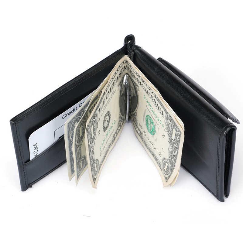 DANJUE Rfid Блокировка Мужской зажим для денег Кожаный клатч кошелек Мужская мода большая емкость Кредитная карта посылка маленький кошелек для монет мужской