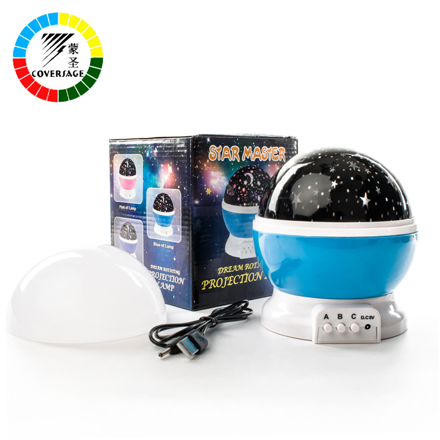 Coversage Rotating Night Light Projector Spin Starry Sky