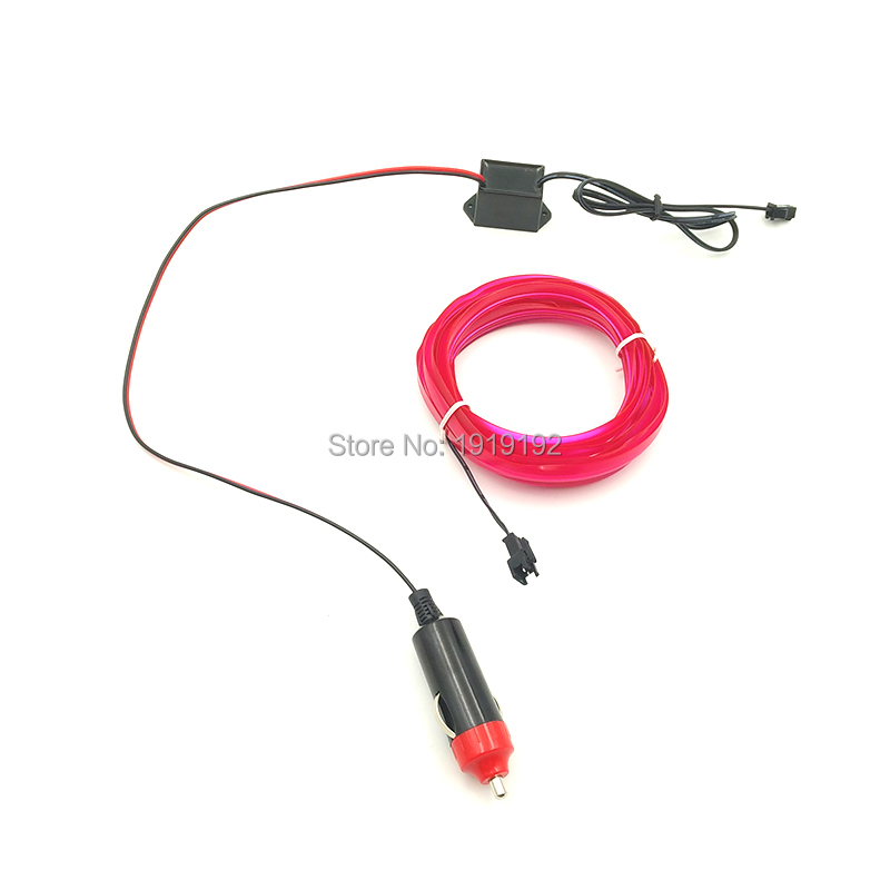 Having 10 Color Choice DC-12V Steady on Flexible For 3 Meters EL Wire Rope Tube Neon Cold Light For Auto CarParty Decoration
