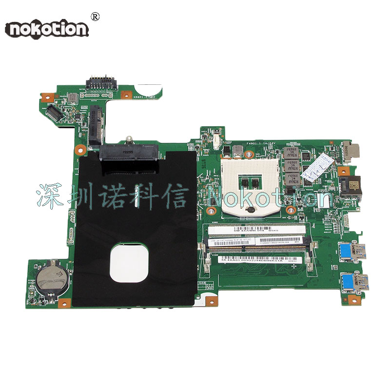 NOKOTION 48.4WQ02.011 Main board For Lenovo G580 B580 Laptop Motherboard HM70 DDR3 Free CPU WORKS 656092 001 main board for hp pavilion dm4 dm4 2000 laptop motherboard ddr3 with i3 2310m cpu