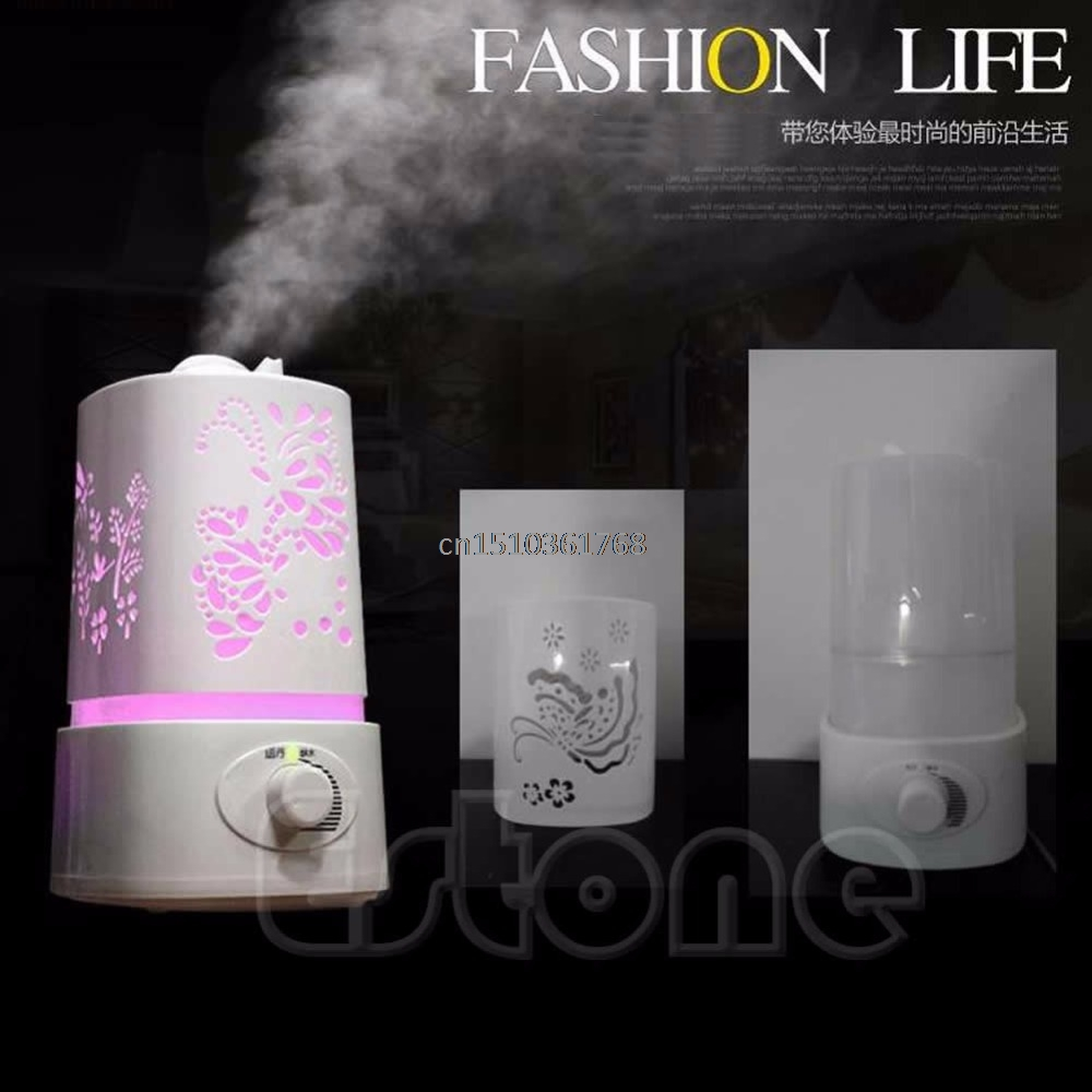 New 1.5L Ultrasonic Home Aroma Humidifier Air Diffuser Purifier Lonizer Atomizer #Y05# #C05# aroma diffuser atomizer air humidifier led ultrasonic purifier fragrant 300ml pp y05 c05