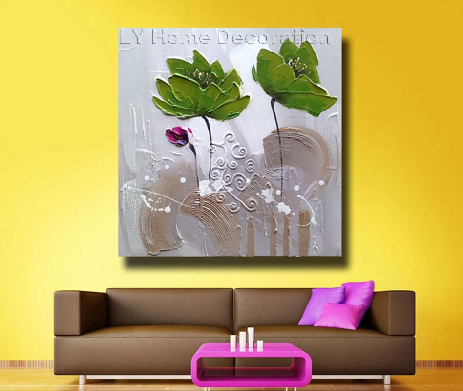 Attractive Lotus Leaves Wall Art Images - Wall Painting Ideas ...