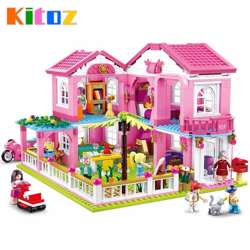 Kitoz DIY Doll House Miniature Dollhouse Home Villa Garden