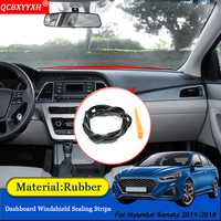 Car styling Anti Noise Soundproof Dustproof Car Dashboard Windshield Sealing Strips Car Accessories For Hyundai Sonata 2011 2018|Sound & Heat Insulation Cotton| |  -