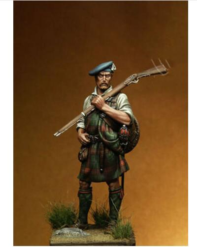 1/24 75MM Ancient Warrior Scottish Stand 75mm   Resin Figure Model Kits Miniature Gk Unassembly Unpainted
