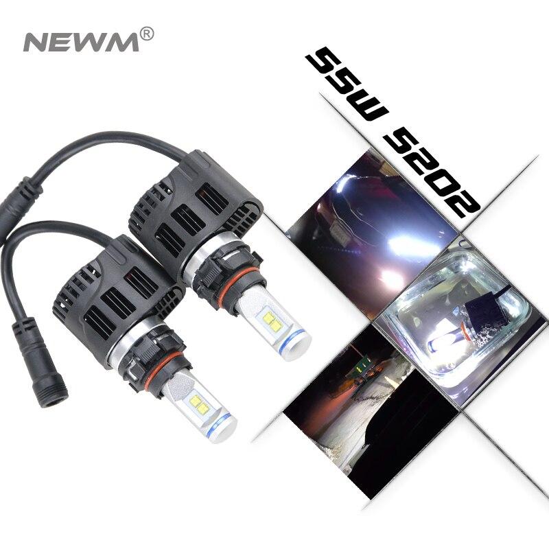 ESCUDO 2 PCS Faróis Do Carro de Alumínio LEVOU H7 H1 H3 H11 9005 9006 H4 12000LM 12 V 6000 K Auto lâmpada Lâmpadas de Alta potência IP68 - 3