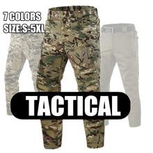 IX9 miasto taktyczne spodnie w stylu cargo mężczyźni bojowe SWAT wojskowe spodnie militarne bawełniane wiele kieszenie Stretch elastyczne męskie spodnie sportowe 5XL tanie tanio COTTON Pasuje prawda na wymiar weź swój normalny rozmiar HAN WILD cargo pants military style army green black cp S M L XL 3XL 4XL 5XL