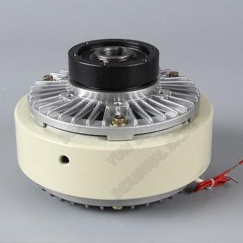 Магнитная Порошковая муфта 200нм 20кг DC24V полый вал обмотки тормоза для контроля натяжения мешков печать упаковки крашения машина