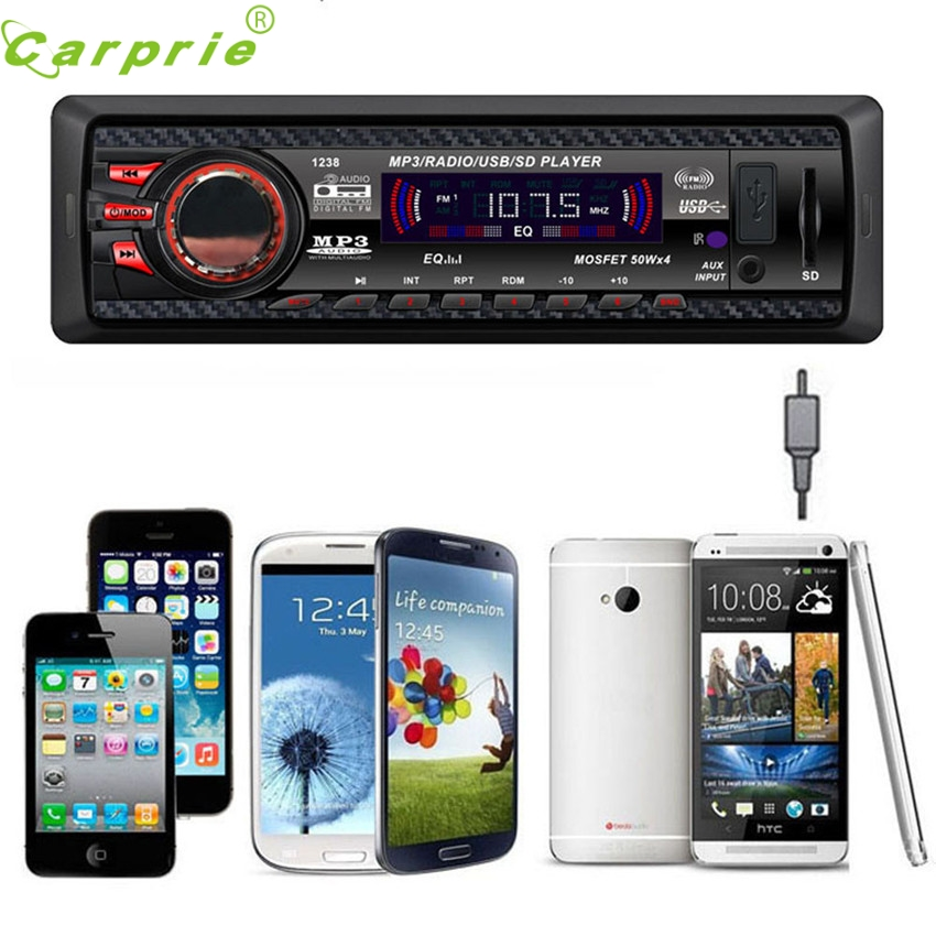 Dependable Car Audio Stereo In Dash FM With Mp3 Player USB SD Input AUX Receiver 1238 Ma28 dropshipping