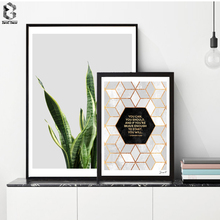 Fresh Palm Plant Canvas Posters and Prints, Wall art Geometric Quotes Painting Picture for Living Room Scandivanian Home Decor
