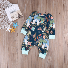 0 18M Floral Newborn Baby Boy Girl Long Sleeve Cotton Romper Jumpsuit One Pieces Sunsuit Children