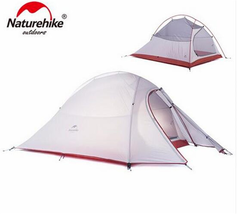 NatureHike Ultralight Waterproof Outdoor 4 Season 2 Person Tent 210T 20D Plaid Fabric Tents Double-layer Camping Tent naturehike outdoor camping 2 person tent 20d silicone ultralight 3 season tent double layer 2 people hiking fishing picnic tents