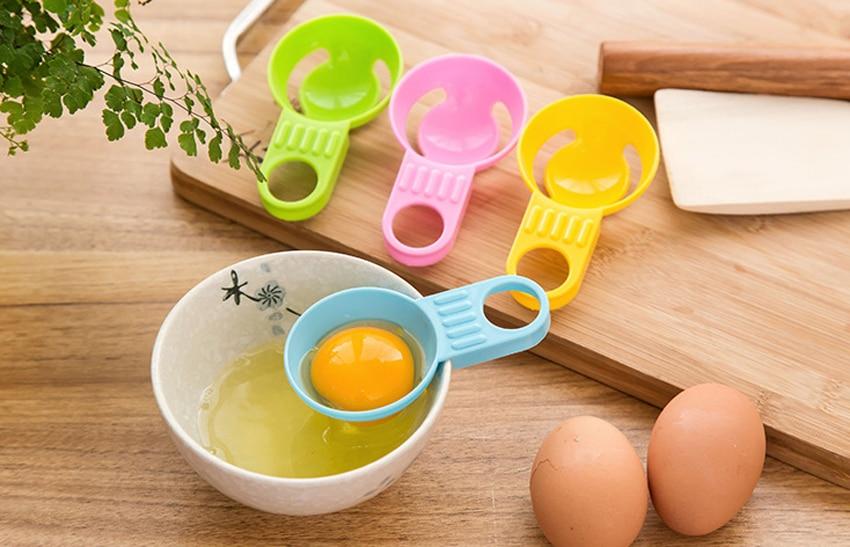 Лидер продаж Пластик Кухня гаджета Удобный Яичный желток Белый Сепаратор Держатель сито S
