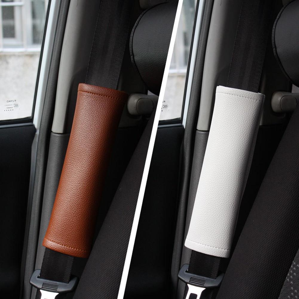 Encell PU Car Seat Belt Cover Shoulder Pad,Black