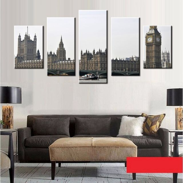 office wall prints. London Big Ben Picture Canvas Prints Cityscape Black And White Photograph Print Wall Art For Office